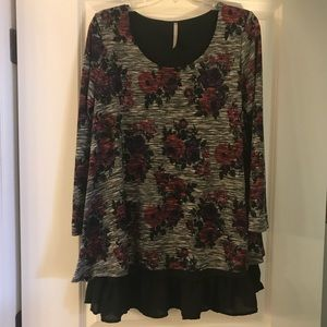 Dottie Couture Flower Tunic Top